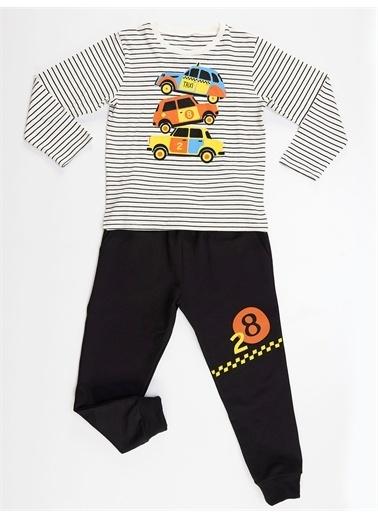 Denokids 28 Cars Erkek Çocuk Pantolon Takım Renkli